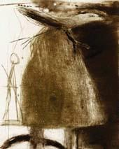 Flapping By  Drypoint/Monoprin