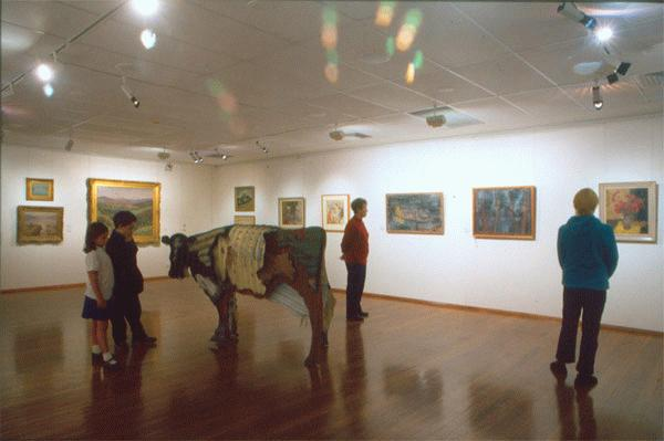 Inside Mosman Art Gallery